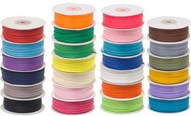Set: 26 kleuren 4 mm satijnband (ca. 2340 m)