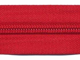 Nylon rits rood #519 maat 5 (ca. 5 m)