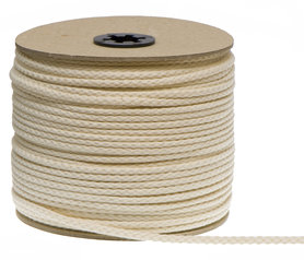 Katoenen koord creme 7 mm (ca. 50 m)