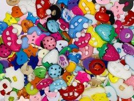 Assorti kinderknoopje MIX soorten en kleuren (ca. 200 stuks)