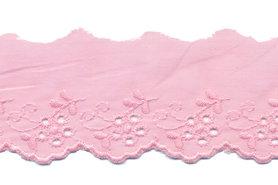 Broderie roze 100% KATOEN 50 mm #1302 (ca. 13,5 m)