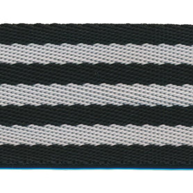 Tassenband 50 mm streep zwart/wit (ca. 5 m)