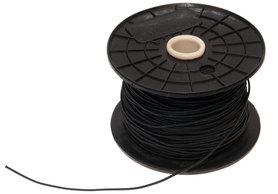 Elastisch koord - hoedenelastiek- zwart 1,3 mm (ca. 100 m)