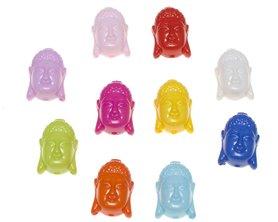 Bedel Buddha mix kleuren 23 x 16 x 8 mm (5 stuks)