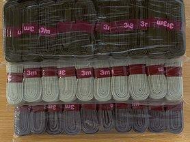 GRIJS katoenen biaisband gevouwen 20mm - 20 bundels van 3 meter (60 meter)