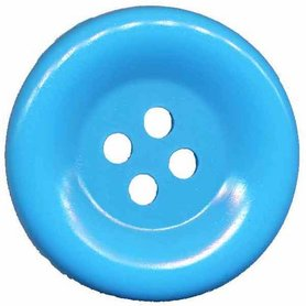 Grote knoop licht blauw 50 mm (10 stuks)