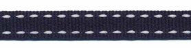 Donker blauw-wit stippel grosgrain/ribsband 10 mm (ca. 25 m)