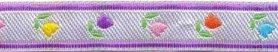 Zilver-paars tulpenband 12 mm (ca. 22 m)