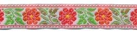 Oranje-rood-groen bloemband 12 mm (ca. 22 m)