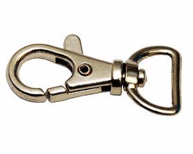 Musketonhaak / sleutelhanger zilverkleurig 15 mm (10 stuks)