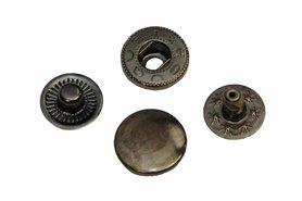 Drukker oud nikkel 12 mm, type VT5 (ca. 25 stuks)