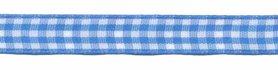 Ruit band blauw-wit 10 mm (ca. 45 m)