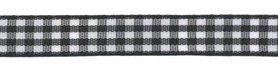 Ruit band zwart-wit 10 mm (ca. 45 m)