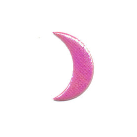 Applicatie glim maantje glad roze middel 30 x 15 mm (ca. 100 stuks)