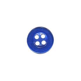 Knoop met 4 gaten kobalt blauw 10 mm (ca. 100 stuks)