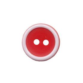 Knoop met opstaande rand rood-wit 15 mm (ca. 50 stuks)