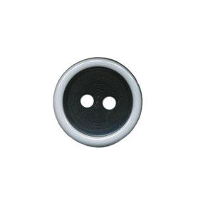 Knoop met opstaande rand zwart-wit 15 mm (ca. 50 stuks)