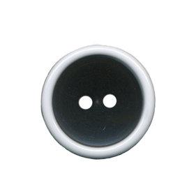 Knoop met opstaande rand zwart-wit 20 mm (ca. 25 stuks)