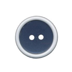 Knoop met opstaande rand donker blauw-wit 20 mm (ca. 25 stuks)