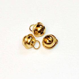 Ronde belletjes goudkleurig 11 mm (ca. 25 stuks)