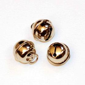Ronde belletjes zilverkleurig 18 mm (ca. 25 stuks)