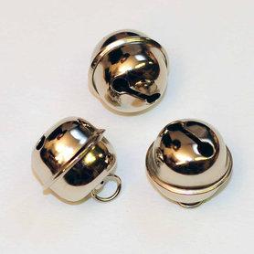 Ronde belletjes zilverkleurig 20 mm (ca. 25 stuks)