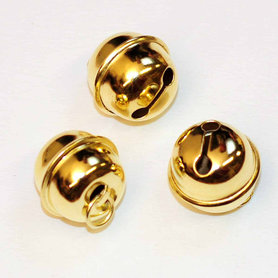 Ronde belletjes goudkleurig 20 mm (ca. 25 stuks)
