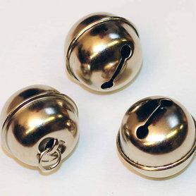 Ronde belletjes zilverkleurig 25 mm (ca. 25 stuks)