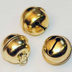 Ronde belletjes goudkleurig 25 mm (ca. 25 stuks)