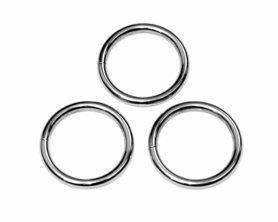Metalen O-ring zilverkleurig ZWAAR 30 mm (ca. 25 stuks)
