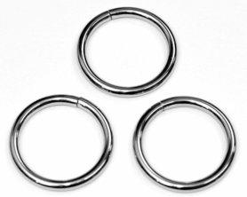 Metalen O-ring zilverkleurig ZWAAR 38 mm (ca. 25 stuks)