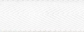 Wit KATOENEN keperband 25 mm (ca. 50 m)
