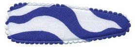 Haarkniphoesje zebra print wit/blauw 8 cm (ca. 100 stuks)
