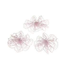Kanten rozet roze ca. 32 mm (ca. 25 stuks)