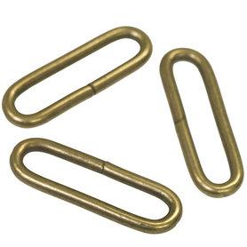 Metalen passant met ronde hoeken bronskleurig ZWAAR 50 mm (ca. 25 stuks)