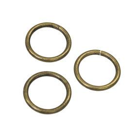 Metalen O-ring bronskleurig ZWAAR 25 mm (ca. 25 stuks)