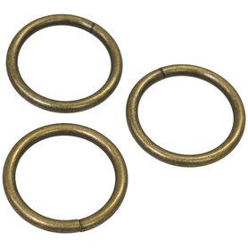 Metalen O-ring bronskleurig ZWAAR 38 mm (ca. 25 stuks)