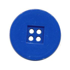 Knoop retro kobalt blauw 25 mm (ca. 25 stuks)