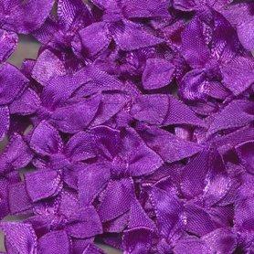 Satijnen strikjes paars (ca. 100 stuks)