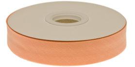 Zalm gevouwen biaisband 20 mm (20 meter)
