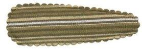 Haarkniphoesje gestreept legergroen 5 cm (ca. 100 stuks)