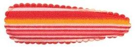 Haarkniphoesje gestreept rood 5 cm (ca. 100 stuks)