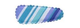 Haarkniphoesje gestreept blauw 3 cm (ca. 100 stuks)