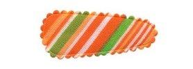 Haarkniphoesje gestreept oranje 3 cm (ca. 100 stuks)