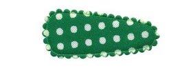 Haarkniphoesje donker groen met witte stip / polkadot 3 cm (ca. 100 stuks)