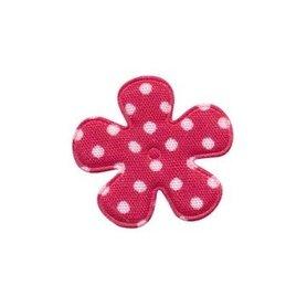 Applicatie bloem cyclaam met witte stippen katoen klein 25 mm (ca. 100 stuks)