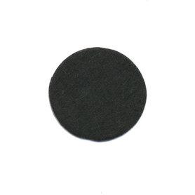 Vilten schijfje zwart ca. 25 mm (ca. 100 stuks)