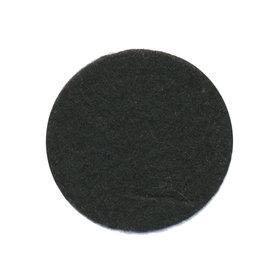 Vilten schijfje zwart ca. 35 mm (ca. 100 stuks)