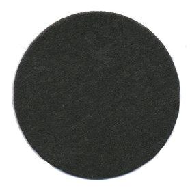 Vilten schijfje zwart ca. 45 mm (ca. 100 stuks)