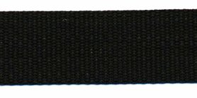 Tassenband 25 mm zwart STEVIG (50 m)